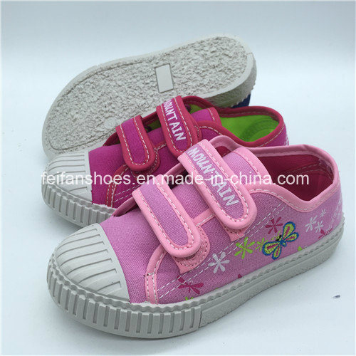 High Quality Children Canvas Casual Shoes Injection Shoes Customized (FHH1206-9)