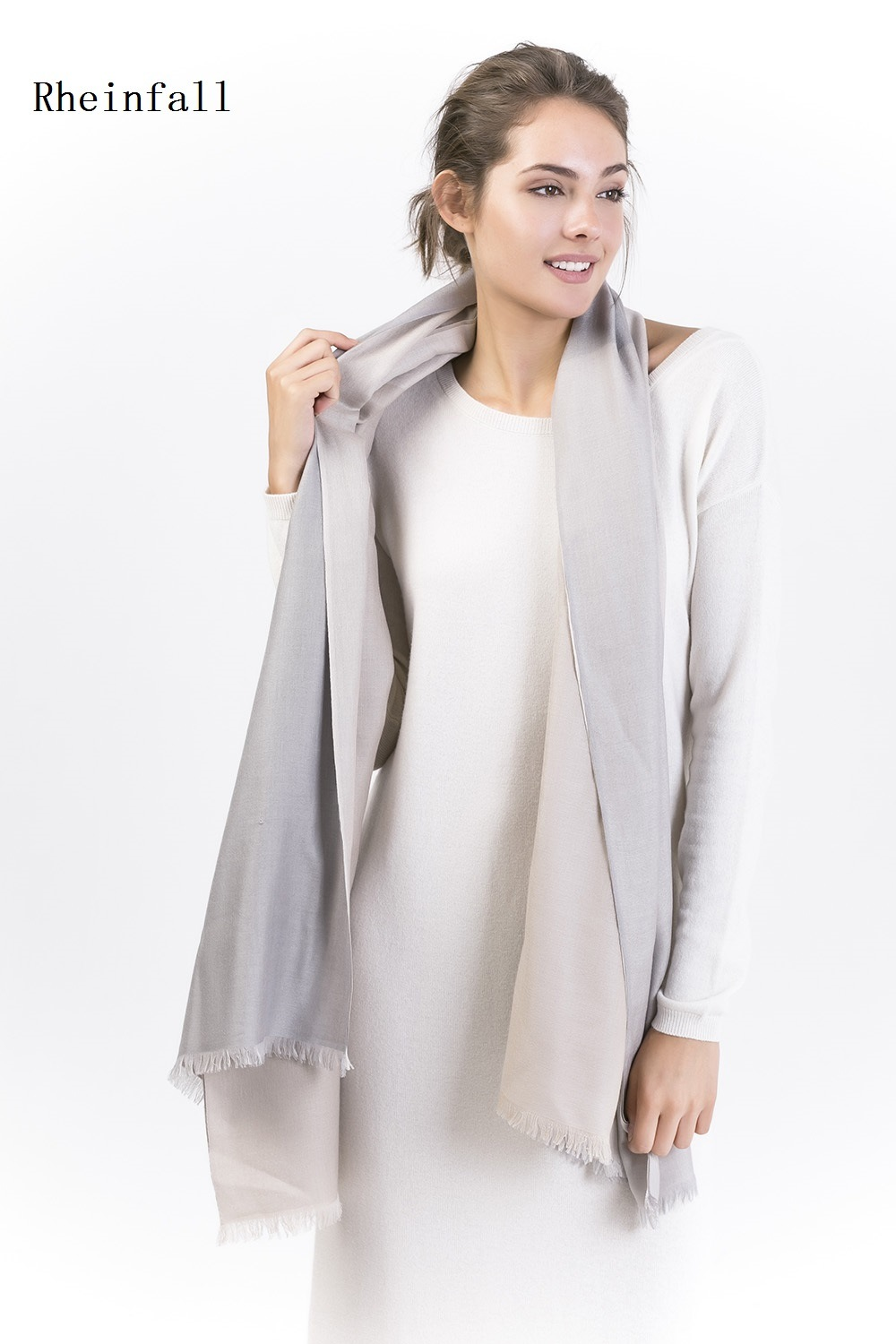 Double Layer Cashmere Silk Shawl Rheinfall