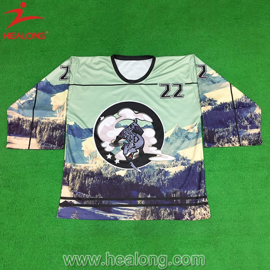 Healong Colorful Customized Design Ice Hockey Jersey