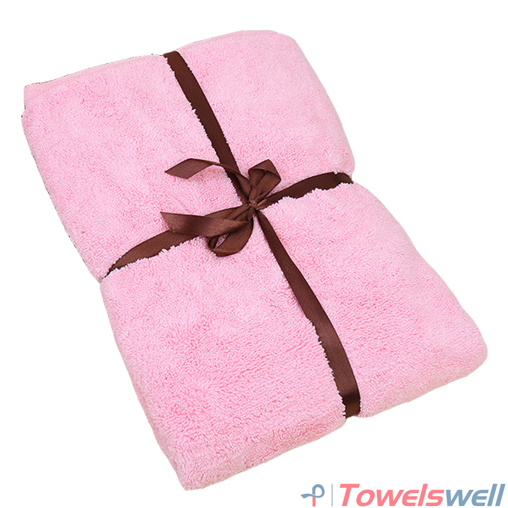 Pink Soft Microfiber Terry Bath Towel
