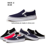 Hotsale Men Rubber Canvas Shoes Injection Casual Shoes (VACE02)