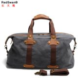 UK Design Made in China Factory Duffel Bag Leather Canvas Gym Sport Bag (RS-9135)