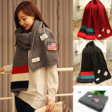 OEM Design Fashion Double Layer Drawstring Neck Scarf