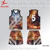 Healong Any Colors New Design Basketball Jersey for Teamwear