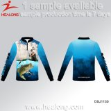 Healong UV-Protection Sportswear Customized Sublimation Printing Fishing Shirt