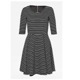 Rayon Fabric Long Striped Lady's Dress
