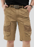 Top-Quality Men Fashion Leisure Cotton Twill Canvas Cargo Beach Short Pants
