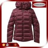 2016 Ladies Wine Color Nylon Zipper Winter Down Jacket