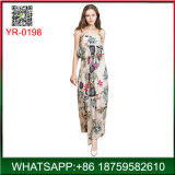 2018 Spring Elegant Floral Printing Lady Long Dress for Sale