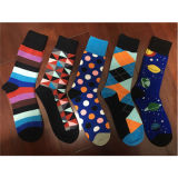 Fashion Custom Classic Unisex Happy Striped Socks Qd014