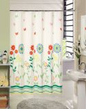 OEM New Elegant Flower Pattern PEVA Shower Curtain