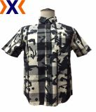 Men's Shirt with Printed Y/D Plaid Fabric