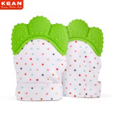 Five Colors Non-Toxic Silicone Teething Mitten Teether Gloves