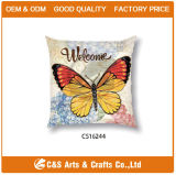 Square Comfortable Butterfly Style Washable Home Pillow Hotle Pillow
