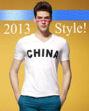 New Style 100% Cotton Plain White Men T Shirts