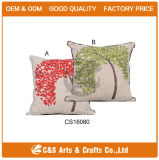 Custom Made Embroidered Decorative Pillow