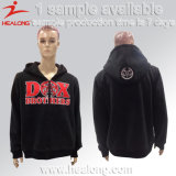 Healong Custom Design Silk Screen Logo Zipper Winter Hoodies
