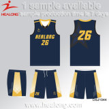 Healong Wholesale Sublimation Polyester Team Basketball Jersey Set Suit
