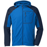 Outdoor Blue Mens Softshell Jacket Hoody