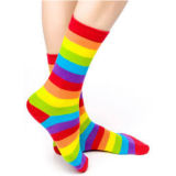 Fashion Design Men/Women Unisex Combed Cotton Socks Qd003