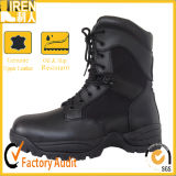 Black Genuine Leather Good Wear Army Boot Military Tactical Combat Boot