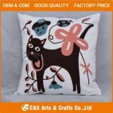 Custom Embroidery Fabric Animal Cushion for Home Textile