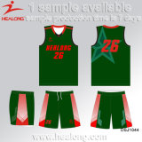 Healong Fresh Design Sportswear Gear Mix Sizes Sublimation Basketball Uniforms