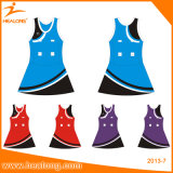 Healong Yellow Color Sublimation Cheap Women Bodysuit Netball Dresses
