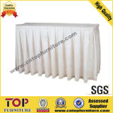 White Wedding Banquet Table Skirt