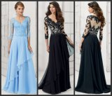 Black Lace Mother Evening Dresses Blue Formal Gowns Mt102
