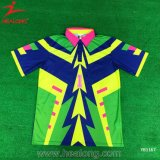 Healong OEM Sportswear Customized Design Sublimation Pringting Polo T-Shirt