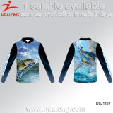 2017 Fishing Wear Healong Dye Sublimation Colorful Fishing T Shirts
