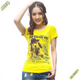 Wholesale 100% Cotton Lady's Short Sleeve T Shirt