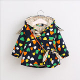 Cute Printed Heart Pattern Girl Coat for Kids Clothes
