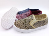 Children Sneaker Shoes Injection Slip-on Canvas Shoes Footwear (ZL1017-14)