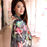 Digital Printed Silk Shawl (12-BR110303-34)