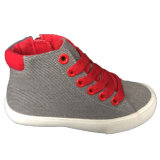 New Model Red/Grey Children Fancy Canvas Shoes for Boys/Girls