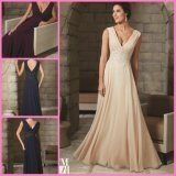 A-Line Chiffon Party Prom Pageant Dresses V-Neck Mother's Evening Dresses M71208