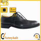 Modern Leather Fashion Black Army Office Shoes for Men