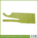 Disposable Waterproof PE Apron in Yellow Color