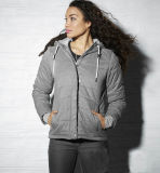 Women Slim Sport Hoody Padded Short Jacket