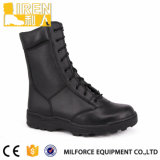 Black Cow Leather Military Combat Boots