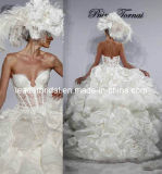 Luxury Wedding Ball Gown Tiered Lace Bridal Wedding Dresses L41