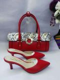 Red Pointy High Heel Sandals and Matched Handbags (G-35)