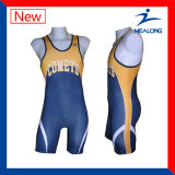 Healong Fashion Design Sports Clothing Gear Sublimation Men's Wrestling Singlets