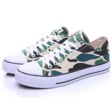 Low Top Comfortable Camouflage Color Flat Skateboard Canvas Shoes Men/Women