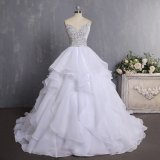 2018 China Ball Gown Vintage Luxury Top 10 Organza Crystal Wedding Dress