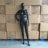 Abstract Head Skin Black Color Female Mannequin with Base Standing