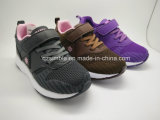 Children Breathable Sport Running Shoes with Flyknit Materials