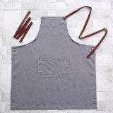 High Quality Cotton Unisex Cooking Kitchen Full Bib Apron for Chef (RS-170408)